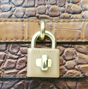Kate Landry Bags - Kate Landry Croc Embossed Satchel Handbag NWOT